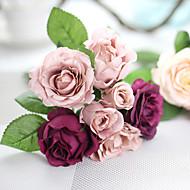 1 1 Ast Polyester Rosen Tisch-Blumen Künstliche Blumen 9.8*5.5*5.5(inch)