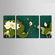 E-HOME® Lotus Clock in Canvas 3pcs