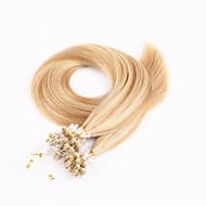 100s бразильским волосы микро петля наращивания волос шелковистое прямое человеческие волосы кольцо микро связывает наращивание волос