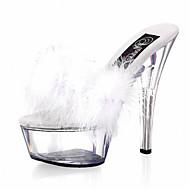 נעלי נשים-עקבים-עור פטנט / חומרים בהתאמה אישית-עקבים / נעלים עם פתח קדמי / פלטפורמה / בלרינה בייסיק / נעלי בית-שחור / אדום / לבן-חתונה /