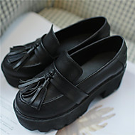 Women's Oxfords Fall Creepers / Round Toe PU Casual Platform Tassel Black / Brown Others