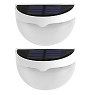 2PCS 6LED Solar Light Wateproof Garden Decoration Light Sensor Solar Power Panel Lamp Mounted Outdoor Fence Pathway Wall