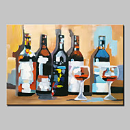 Large Hand Painted Abstract Wine Bottle Oil Painting On Canvas Wall Art With Stretched Frame Ready To Hang 80x120cm
