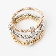 Bracciali Dell'involucro del braccialetto Lega Rotondo Doppio strato Matrimonio / Feste Gioielli Regalo Oro,1 Set