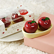 1Box/Set - Bride to Be Red mini Apple Salt n Pepper Shakers Wedding Souvenirs
