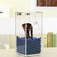 kristal acryl make-up borstel opbergdoos organisator geval met kralen cosmetische parel box houder lippenstift koffer voor meisje