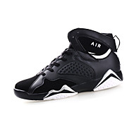 Men's Sneakers Spring / Fall Round Toe / Flats PU Athletic / Casual Flat Heel Others / Lace-upBlack / Purple / Whit