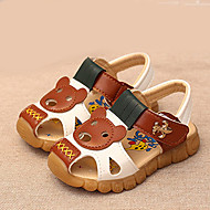 Boy's Sandals Summer Round Toe / Sandals PU Outdoor Flat Heel Animal Print Blue / Brown