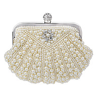 Women Elegant Noble Pearl Rhinestone  Evening Bag