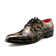 Men's Casual Business Leather Shoes Flowers Pointed Toe Shoes