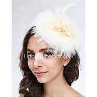 Women's Feather / Tulle / Net Headpiece-Wedding / Special Occasion Fascinators 1 Piece
