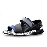 Alkalmi-Férfi cipő-Szandálok-Bőr-Fekete / Kék