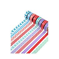 Wedding 10pcs Colorful Masking tape