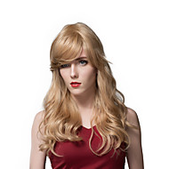 Attractive Long Blonde Loose Wave Human Hair Wigs