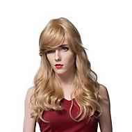 매력적인 긴 금발 느슨한 물결 인간의 머리 가발