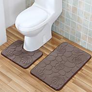 שטיחים לאמבטיה פוליאסטר בסגנון מזדמנים להגדיר (2 יח ')