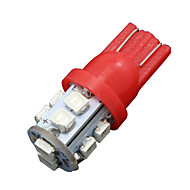 10X Pure Red T10 W5W Wedge Side 10-SMD LED Backup Reverse Light 2825 921 192 906