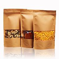 kuivatut hedelmät teetä leivinpaperin pussit ziplock pussit voimapaperi elintarvikkeiden laukku pakkaus kymmenen itse ikkunan