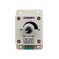 luzes led regulador interruptor para Fita LED ou lâmpada de led (DC 12-24V 8a)