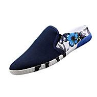 Lapos-Lapos-Női cipő-Papucs és papucs-Alkalmi-Vászon-Fekete / Kék / Piros