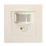 1ks 2v1 automatické zapnutí / vypnutí infračerveného senzoru PIR spínače zapuštěné nástěnného svítidla (ac200-240v)