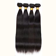 Cabelo Humano Ondulado Cabelo Brasileiro Retas 6 meses 4 Peças tece cabelo