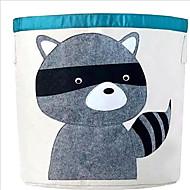 kreslený zvíře skladování sud skladování organická bavlna závěsný vak box lze sklopit špinavého koš na prádlo
