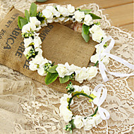 Flower Girl's Foam Headpiece-Wedding / Special Occasion Headbands 2 Pieces (Head and Wrist Set)