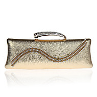 L.west Women Elegant High-grade Diamonds Metallic Evening Bag