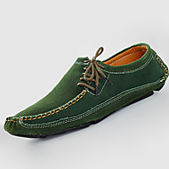 Men's Flats Spring / Summer / Fall / Winter Moccasin / Comfort / Round Toe PU Casual Flat Heel Others / Lace-up
