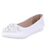 Kényelmes-Lapos-Női cipő-Lapos-Irodai Alkalmi-Bőrutánzat-Kék Rózsaszín Fehér