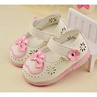 Tyttöjen Vauvat Mokkasiinit Välkkyvät kengät PU Kesä Syksy Kausaliteetti Välkkyvät kengät Ruseteilla Tasapohja Valkoinen Persikka