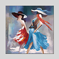 Abstract People Canvas Material Oil Paintings with Stretched Frame Ready To Hang Size 70*70CM