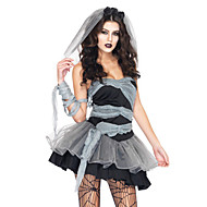 Costumes Zombie Halloween Black Patchwork Terylene Dress / More Accessories