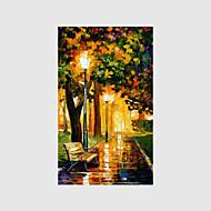 Kézzel festett Landscape / Emberek / Virágos / Botanikus Festmények,Modern Egy elem Vászon Hang festett olajfestmény For lakberendezési