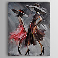 Oil Painting Abstract Poeple Hand Painted Canvas Painting with Stretched Framed Ready to Hang