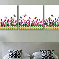 Blumen / Bäume/Blätter / Art Deco Tapete Für Privatanwender Zeitgenössisch Wandverkleidung , PVC/Vinyl Stoff Klebstoff erforderlich