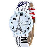Girl Quartz Watch Clock Women Leather Casual Dress Women's Eiffel Tower Wristwatch Cool Watches Unique Watches