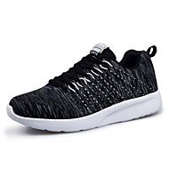 Heren Sneakers Lente Herfst Comfortabel Tule Casual Sport Platte hak Veters Zwart Blauw Grijs