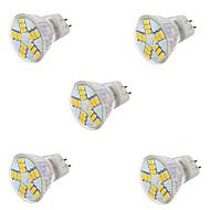 7W GU4(MR11) תאורת ספוט לד MR11 15LED SMD 5730 600LM lm לבן חם / לבן קר דקורטיבי AC 12 V חמישה חלקים