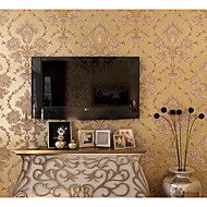 Damasco / Floral / Art Deco / 3D Papel de Parede Para Casa Contemporâneo Revestimento de paredes , Tecido Não-Tecelado Materialadesivo