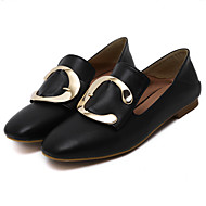 Women's Loafers & Slip-Ons Spring / Summer / Fall / Winter Comfort / Square Toe / Closed Toe  Casual Flat Heel Buckle