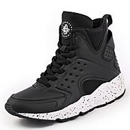 Dames Sneakers Comfortabel Synthetisch Lente Zomer Herfst Winter Sportief Causaal Comfortabel Veters Platte hak Wit Zwart zwart/wit Plat