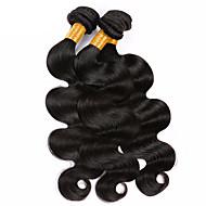 Человека ткет Волосы Бразильские волосы Естественные кудри 6 месяца 3 предмета волосы ткет