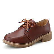 Women's Oxfords Spring Summer Fall Winter Mary Jane Leather Casual Flat Heel Others Brown Yellow Red Others