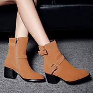 Støvler-Ruskind-Komfort-Damer--Udendørs-Tyk hæl Blokhæl