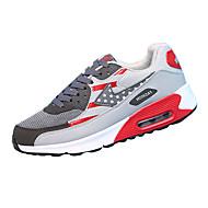 Sneakers-Ruskind-Rund tå-Unisex-Rosa / Lilla / Rød / Grå / Sort og Hvid-Hverdag-Flad hæl
