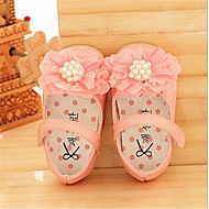 Flats Summer Ballerina Light Up Shoes Leatherette Casual Flat Heel Flower Pink White Other