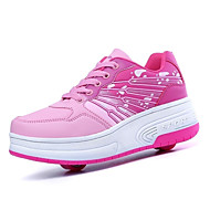 Boys Girls Sneakers Fall / Winter Roller Skate Shoes Outdoor / Athletic Hook & Loop / Pink / Blue / Skate Shoes