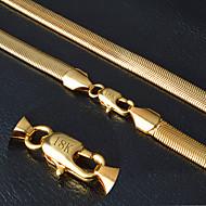 Heren Dames Voor Stel Kettingen Goud Slang Modieus PERSGepersonaliseerd zijdelings Gouden Sieraden Bruiloft Feest Dagelijks Causaal Sport